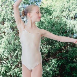 Women & Girls Nude Leotard W/ Removable Straps